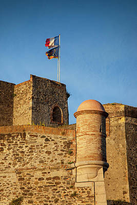 Languedoc Photograph - Flags Fly Above The Royal Castle by Brian Jannsen