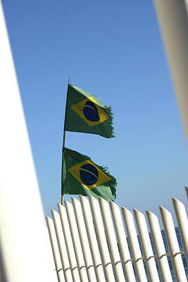 Flags In The Wind Print by Frederico Borges