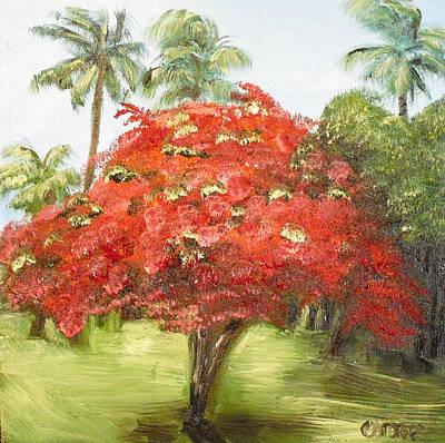 Flamboyan Tree Painting - Flamboyan by Melissa Torres