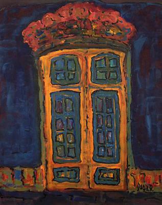 Flamboyant Door Print by Oscar Penalber