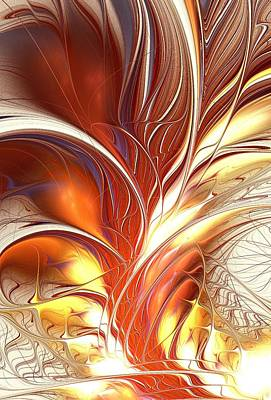 Burning Mixed Media - Flame Burst by Anastasiya Malakhova