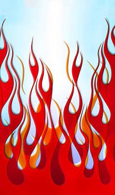 Hot Rod Photograph - Flame Design Phone Case by Mark Rogan