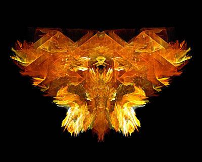 Creature Digital Art - Flame Rider by R Thomas Brass
