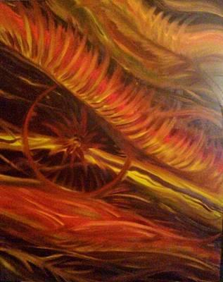 Flame Run Print by Adriana Garces