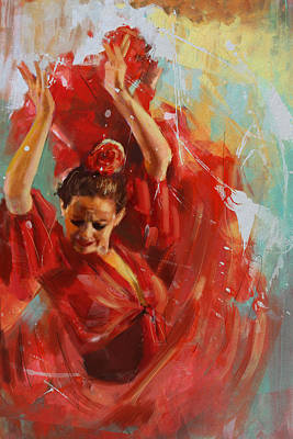 Strength Painting - Flamenco 33 by Maryam Mughal