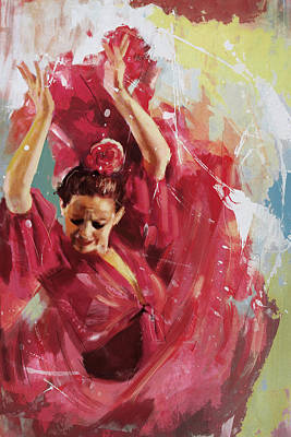 Ballet Dancers Painting - Flamenco 34 by Maryam Mughal
