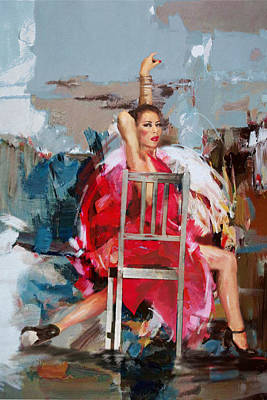 Ballet Dancers Painting - Flamenco 38 by Maryam Mughal