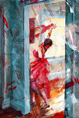 Ballet Dancers Painting - Flamenco 39 by Maryam Mughal