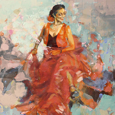 Ballet Dancers Painting - Flamenco 41 by Maryam Mughal