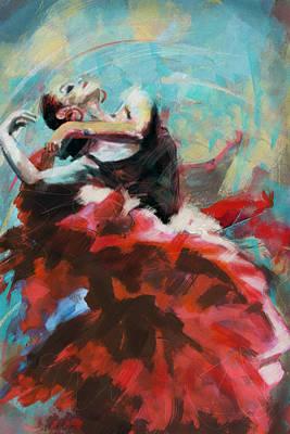 Ballet Dancers Painting - Flamenco 45 by Maryam Mughal