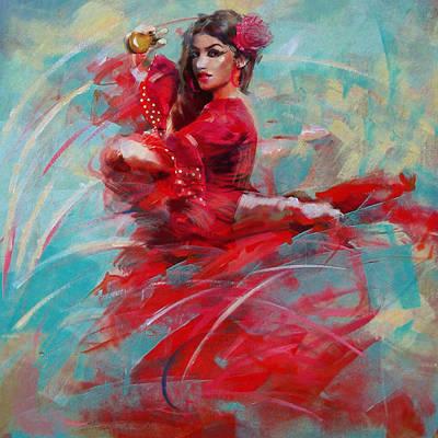 Ballet Dancers Painting - Flamenco 46 by Maryam Mughal