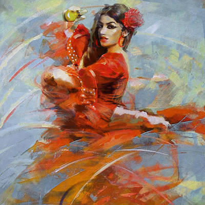 Strength Painting - Flamenco 47 by Maryam Mughal