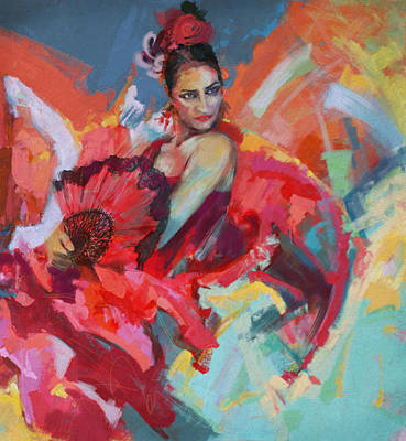 Strength Painting - Flamenco 49 by Maryam Mughal