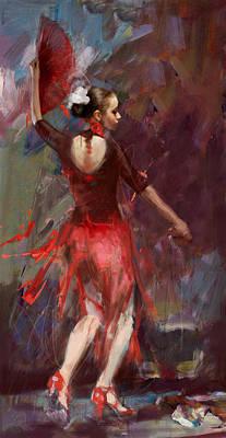 Ballet Dancers Painting - Flamenco 52 by Maryam Mughal