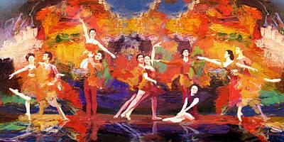 Flamenco Dancer 022 Print by Catf