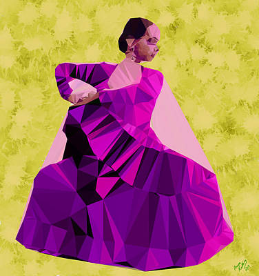 Clapping Painting - Flamenco Dancer In Spain by Bruce Nutting