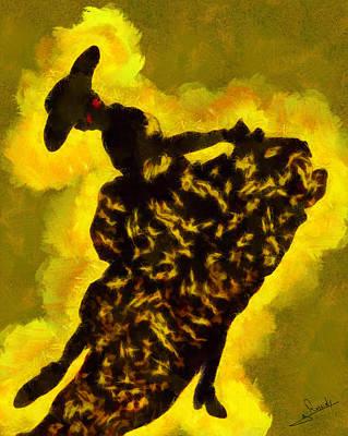 Cinema Painting - Flamenco I by George Rossidis