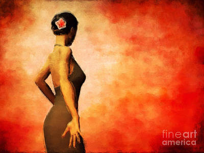 Flamenco Print by John Edwards