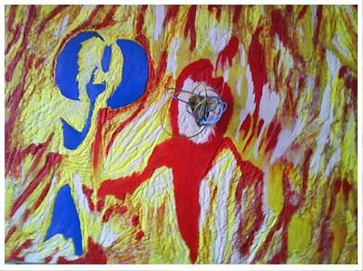 Flames Print by Trevor R Plummer