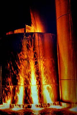 Flaming Water Tower Original by Jeff Lantz