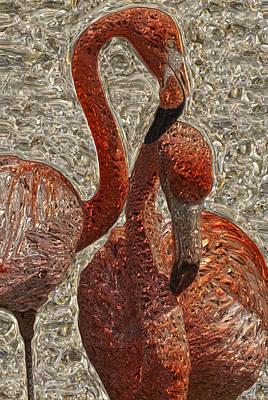 Waterfowl Digital Art - Flamingo 4 by Jack Zulli