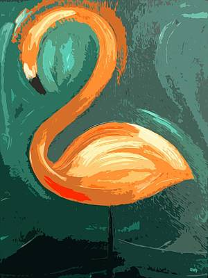 Nature Abstract Mixed Media - Flamingo by Patrick J Murphy