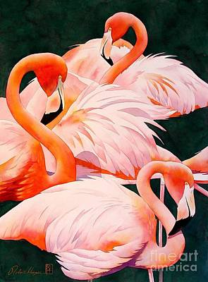 Flamingoes Painting - Flamingos by Robert Hooper