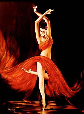 Ballet Painting - Flare by Indira Mukherji