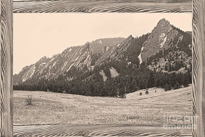 Picture Window Frame Photos Art Photograph - Flatiron Barn Wood Picture Window Frame Sepia View by James BO  Insogna