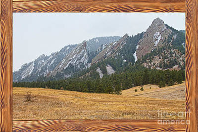 Picture Window Frame Photos Art Photograph - Flatiron Barn Wood Picture Window Frame View by James BO  Insogna