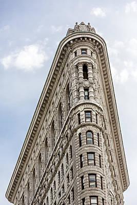 Sky Photograph - Flatiron Building by Susan Candelario