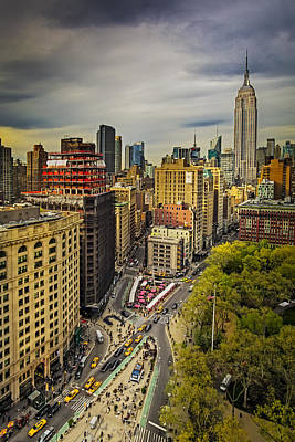 Flatiron District And The Empire State Building Print by Susan Candelario