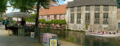 Flea Market At A Canal, Dijver Canal Print by Panoramic Images