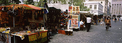 Flea Market At A Roadside, Greenmarket Print by Panoramic Images
