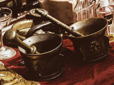 Buy Sell Photograph - Flea Market Series - Mortar And Pestle by Marco Oliveira