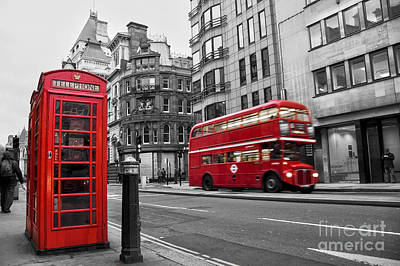 Fleet Street London Print by Delphimages Photo Creations