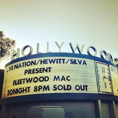 Hollywood Bowl Photograph - Fleetwood Bowl by Chezare Sievers
