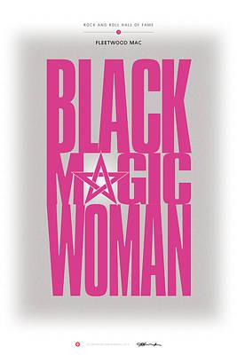 Fleetwood Mac - Black Magic Woman Print by David Davies