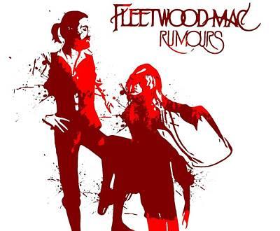 Album Digital Art - Fleetwood Mac Rumours by Dan Sproul