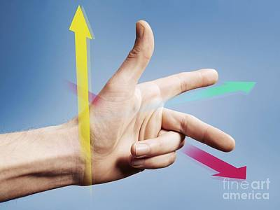 Fleming's Left Hand Rule For Motors Print by Science Photo Library