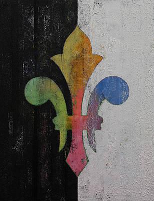 Fleur De Lis Painting - Fleur De Lis by Michael Creese