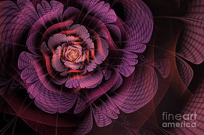 Abstract Digital Digital Art - Fleur Pourpre by John Edwards