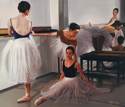 Ballet Painting - Fleurs Du Ballet by Julia O'Malley-Keyes