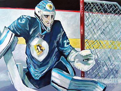 Ice Hockey Painting - Fleury Fleury Fleury by Philip Kram
