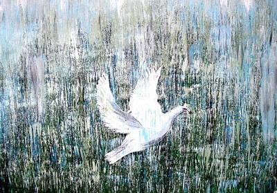 Strength Painting - Flight Against Odds by Karunita Kapoor