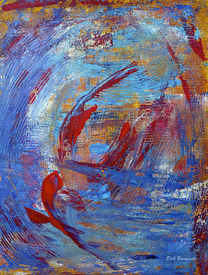 Soaring Painting - Flight by Dick Bourgault