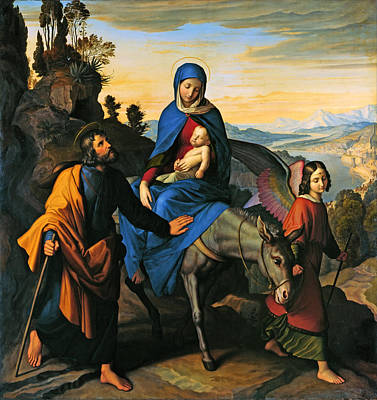 Flight Into Egypt Print by Mountain Dreams
