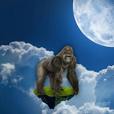 Flight Of The Ape Print by Marvin Blaine