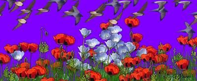 George Pedro Art Photograph - Flight Over Poppies by George Pedro