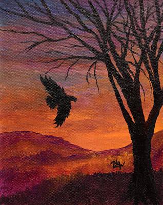 Flight Through Darkness Print by Barbara Willms